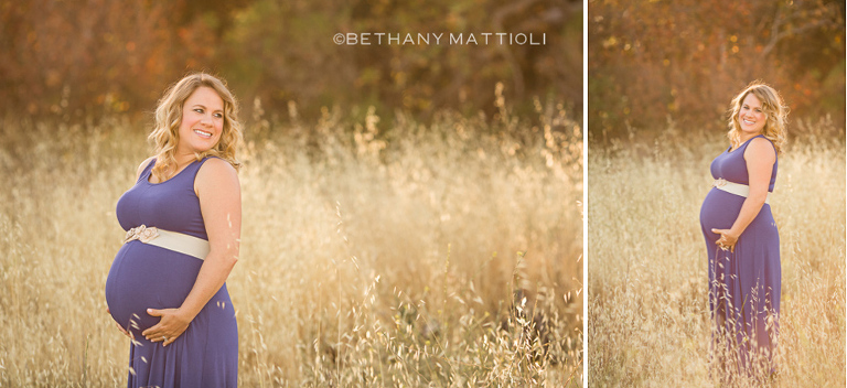 Sunset Field Maternity Session | Bethany Mattioli Photography - Bay Area Maternity Photographer