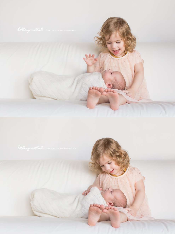 Sibling With Newborn Bethany Mattioli Photography