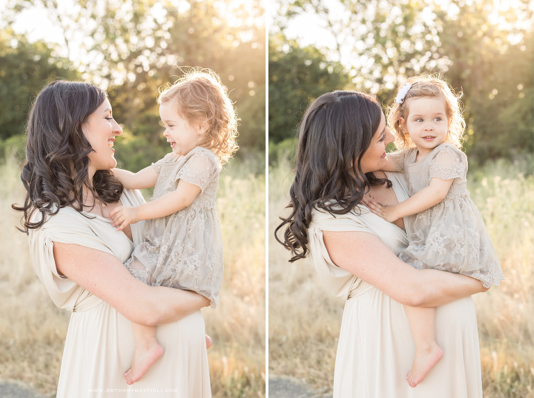 Mother and daughter maternity photo | Bay Area Family Maternity Photographer | Bethany Mattioli Photography