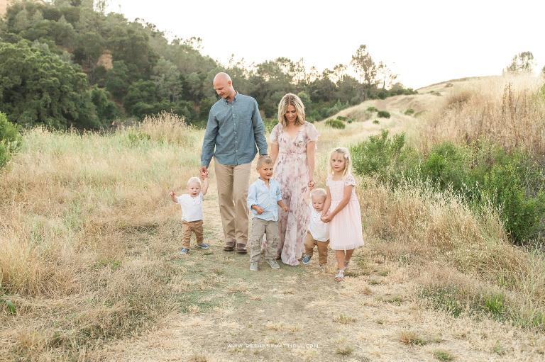 Full Hands, Fuller Hearts | Family of Six Photo Sessions | Morgan Hill Family Photographer | Bethany Mattioli Photography