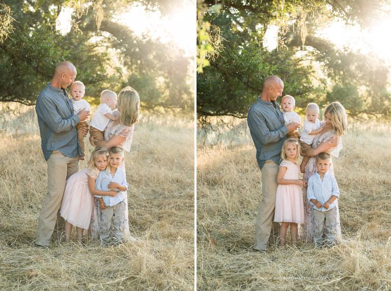 Family of Six Outdoor Photo Sessions | Morgan Hill Family Photographer | Bethany Mattioli Photography