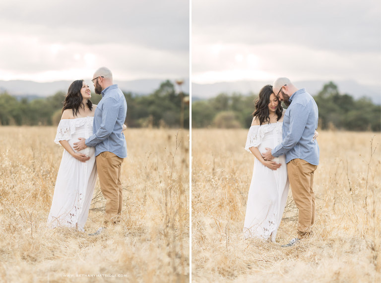 Outdoor Couples Maternity Photo Session Bay Area | Bay Area Maternity Photographer | Bethany Mattioli Photography