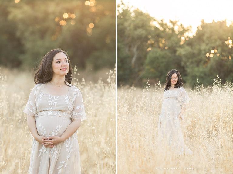 Golden Hour Outdoor Maternity Session | Maternity Photo Shoot Bay Area | Bethany Mattioli Photography