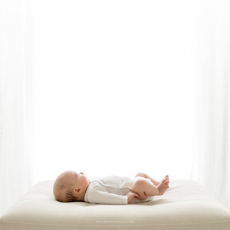 Simple and Timeless Two Month Baby Photo   Baby Photography Bay Area   Bethany Mattioli Photography