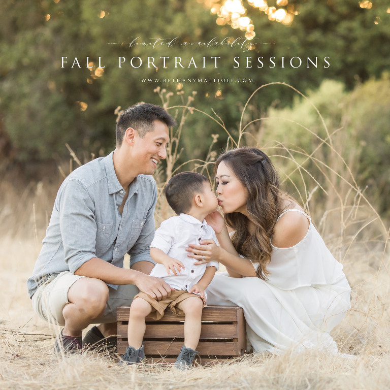 San Francisco Bay Area Fall Family Photo Sessions | Bethany Mattioli Photography