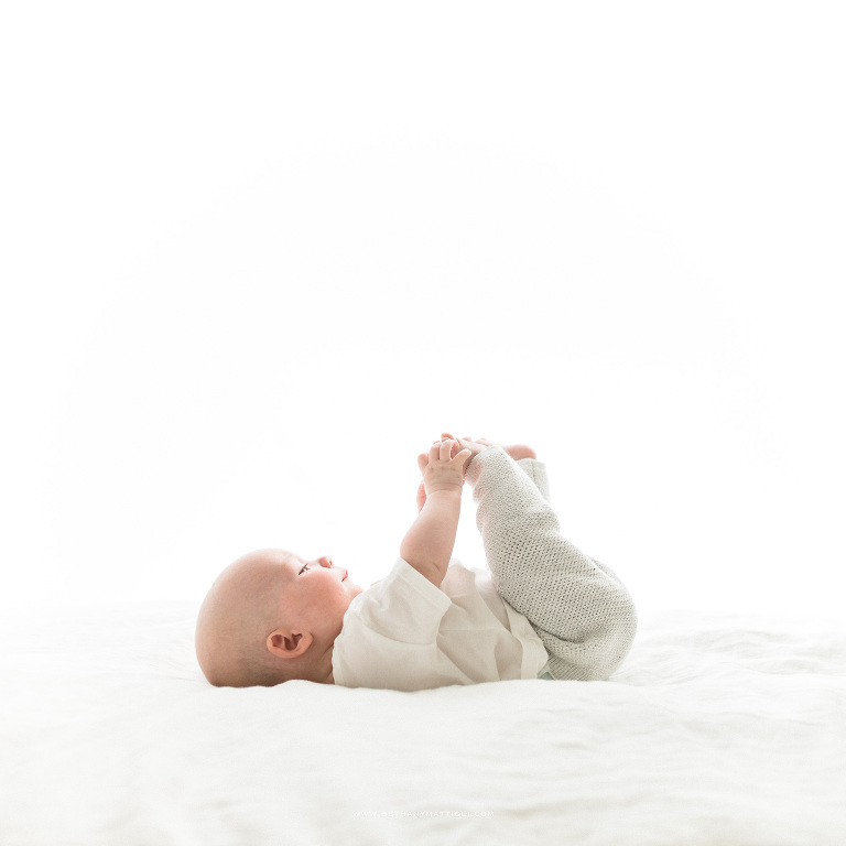 Simple and Timeless Four Month Baby Photo | Baby Photographer Morgan Hill | Bethany Mattioli Photography