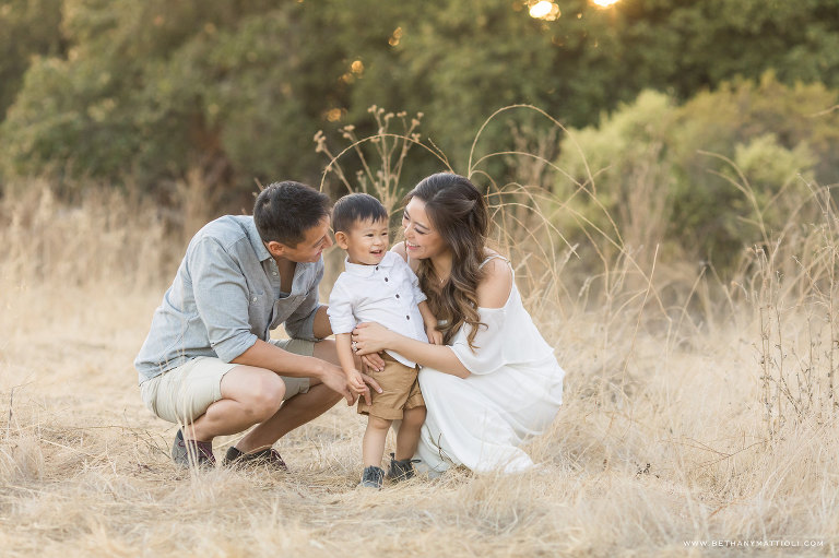 Outdoor Family Photo Session | Bay Area Family Photographer Morgan Hill | Bethany Mattioli Photography