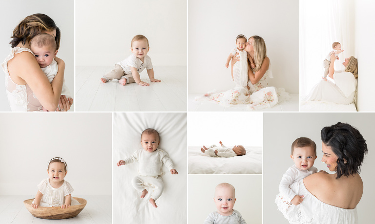Bay Area Baby Photographer | Simple Studio Milestone Sessions