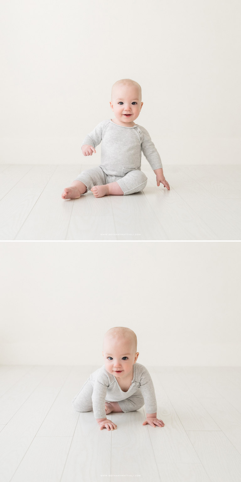 Eight Month Old Baby Simple Studio Photography | Bethany Mattioli Photography | Bay Area Baby Photographer