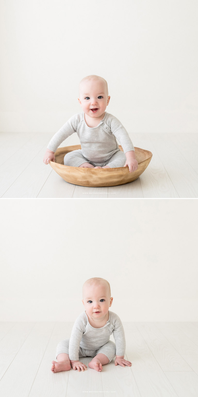 Eight Months Baby Photography in Studio | Bethany Mattioli Photography | Bay Area Baby Photographer