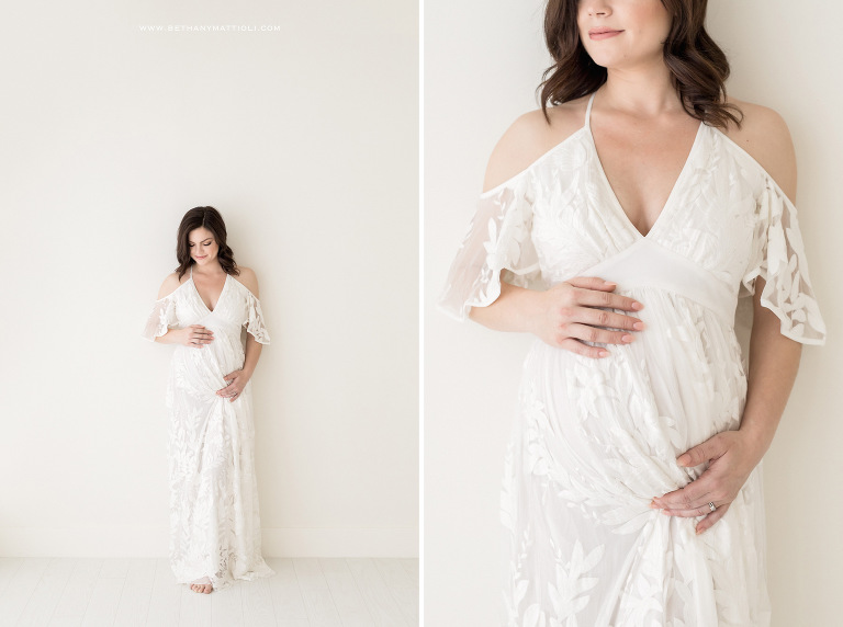 Simple Studio Maternity Photography | Bethany Mattioli Photographer | Bay Area Studio Maternity Photographer