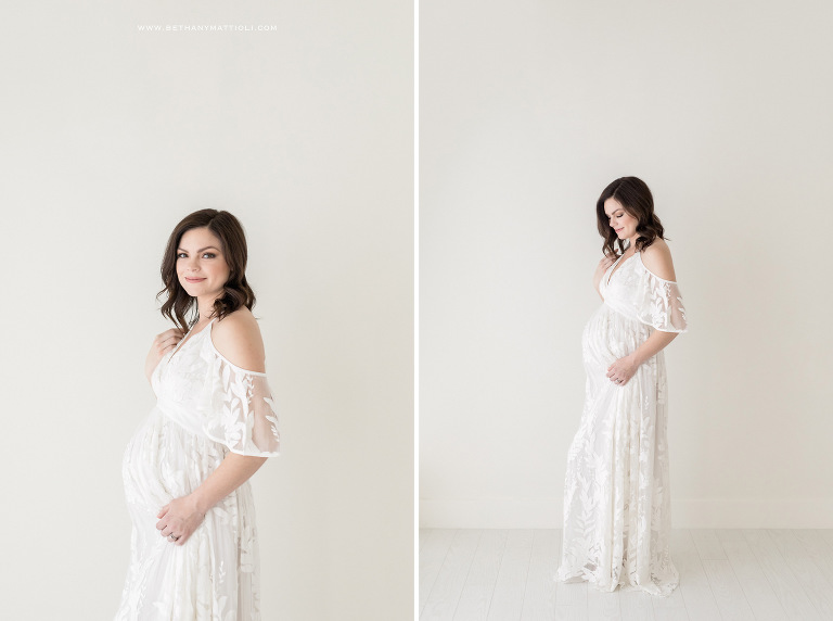 Simple and Timeless Studio Maternity Photography | Bethany Mattioli Photographer | Bay Area Studio Maternity Photographer