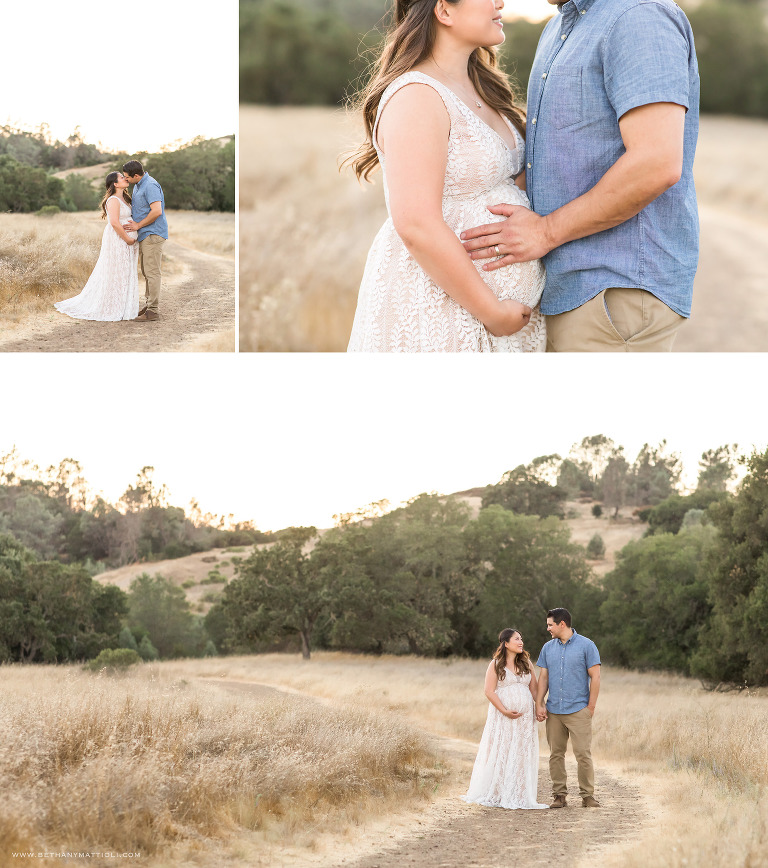 Expecting Couple Outdoor Photo Session  | Bay Area Pregnancy Photography  | Bethany Mattioli Photography
