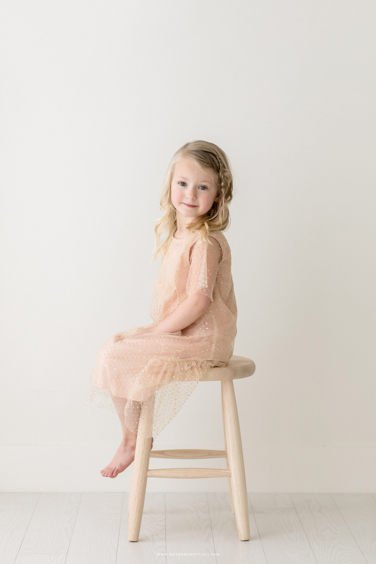 Five Year Birthday Photo Session in Studio | Bay Area Children Photographer | Bethany Mattioli Photography