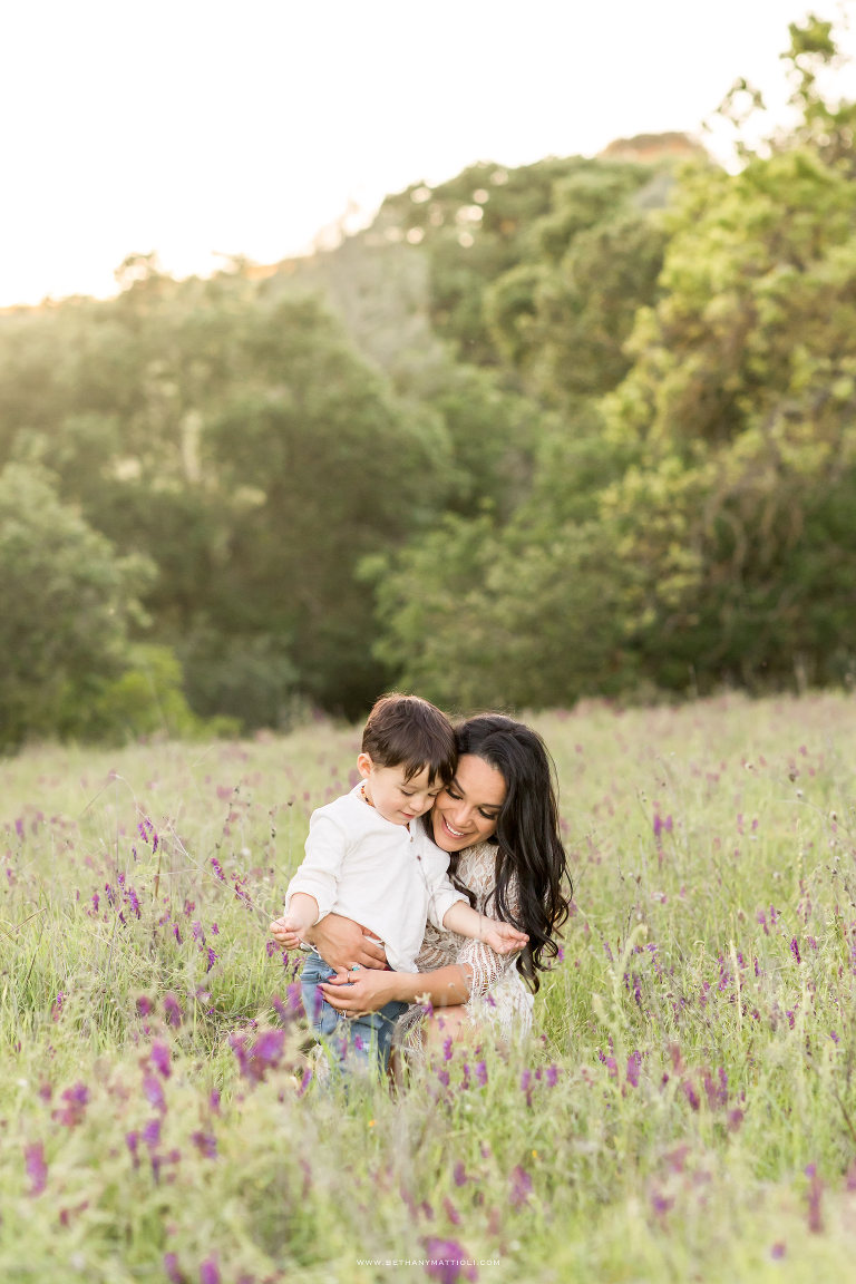 Mommy and Me Photos in Field of Wildflowers | Bay Area Family Photographer | Bethany Mattioli Photography