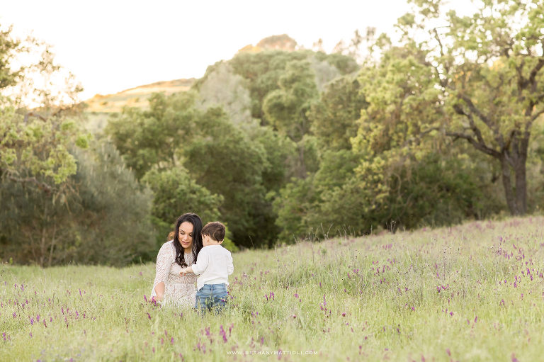 Mother and Son in Field of Wildflowers Photo Session   Bay Area Motherhood Photographer   Bethany Mattioli Photography