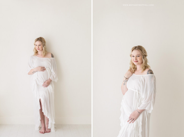 Simple and Timeless Maternity Session | Bethany Mattioli Photography