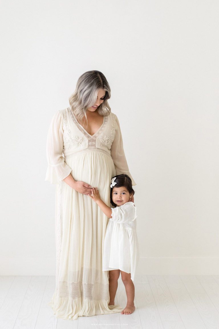Mother and Daughter Maternity Photography | Bay Area Maternity Studio Photographer | Bethany Mattioli Photography