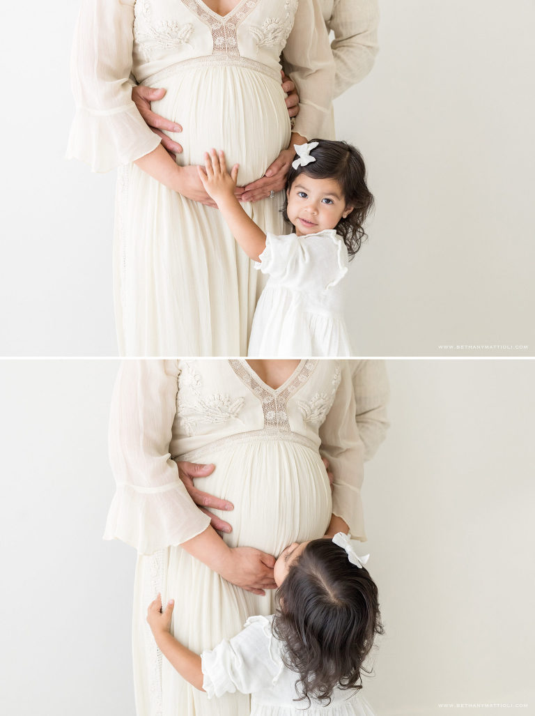 Bay Area Mommy and Me Maternity Studio Photo Session | Bay Area Maternity Family Studio Photographer  | Bethany Mattioli Photography