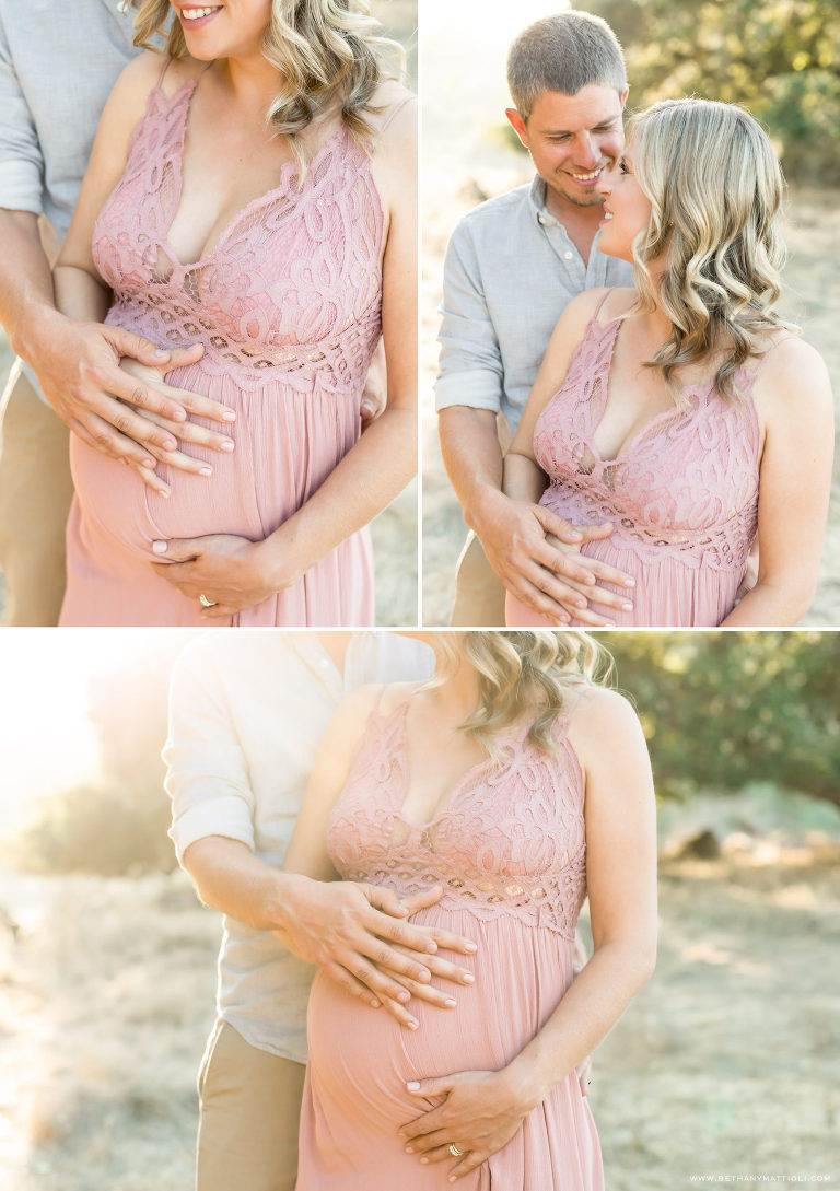 Outdoor maternity photos close up details | Bay Area
