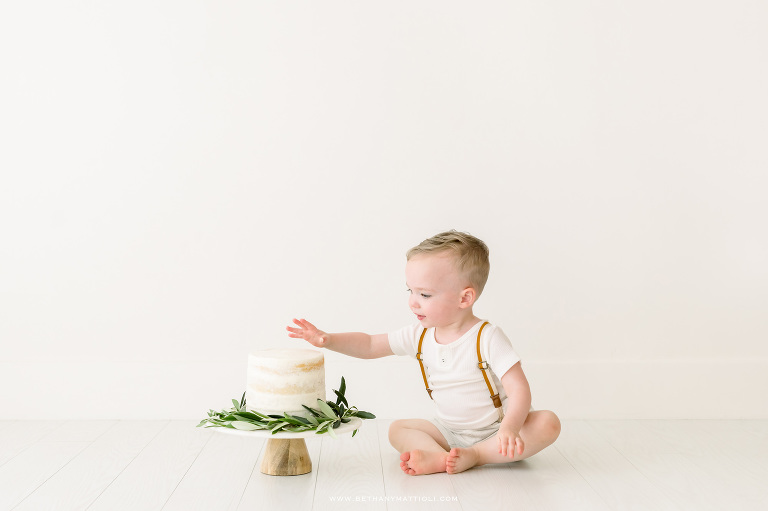 Second Birthday Cake Smash Photos | Bay Area Studio Photographer