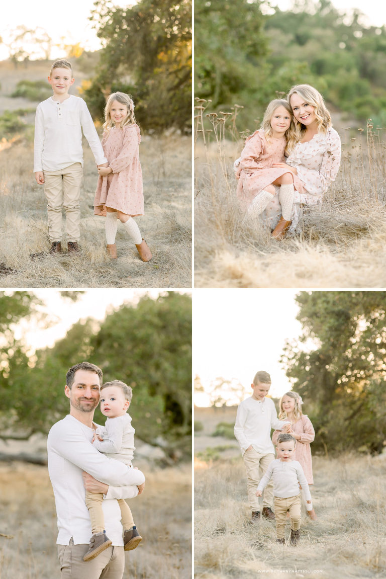 Morgan Hill Family Photographer | Fall photos of family of five