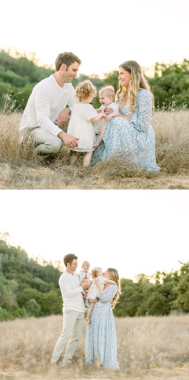 Outdoor Family Photos in the Bay Area | Family of Four | Bethany Mattioli Photography